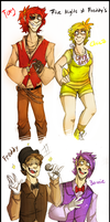Five Nights At Freddy's Humanized by BlasticHeart