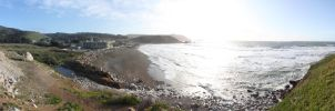 Pacifica beach on a windy day. by mrwho103