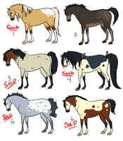 Prairie Ponies - Adopts ONE LEFT! by NatAsplund