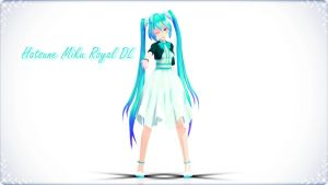 MMD Model Download: Hatsune Miku Royal by MaokoTsumete