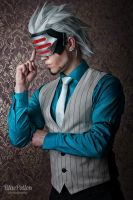 Coffee-loving Prosecutor Godot - Cosplay by Elffi