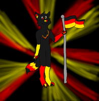 RQ German Dog by aquaheartthecat