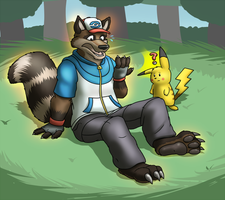 Ash into Raccoon commission by RustyRaccoon