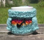 Mabel Sweater Mug Cosy - Rainbow With Musical Note by TheSweaterProject