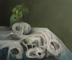 still life with white fabrics by LittleMine