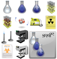 Science Icons by MrMunkily