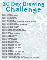 30 Day Drawing Challenge by blargofdoom