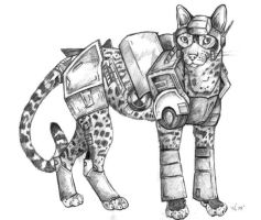 Ocelot - Beast Machines by korat
