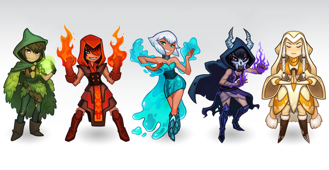 Mage Lineup by leahmsmith