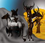 Two Stags by nerwen-wilwarin