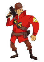 Tf2 Soldier-MAGGOTS by monkeyoo