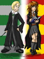 :Draco and Hermione: by charliemalfoy