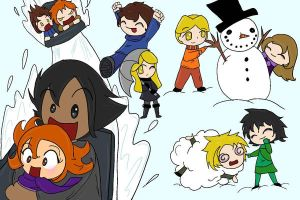 .:Fun in the snow:. by 221bee
