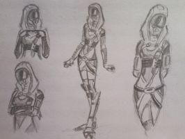 sketches Tali (14) by spaceMAXmarine