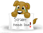 Scrappy needs love by Copanel-CP