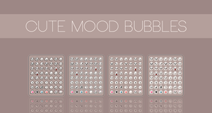 Item: Cute Mood Bubbles V.1 by CustomStory