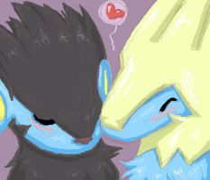 Luxray and Manectric by teraphim