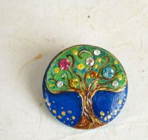 Tree of Life Brooch by FlowerLandBySaraMax