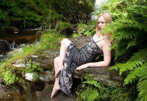 Waterfall babe by photomystique