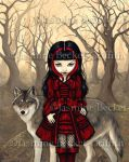Red Riding Hood in Autumn by jasminetoad