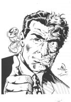 Two-Face con sketch by RougeDK