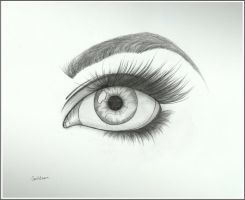 Realistic eye drawing by carldraw