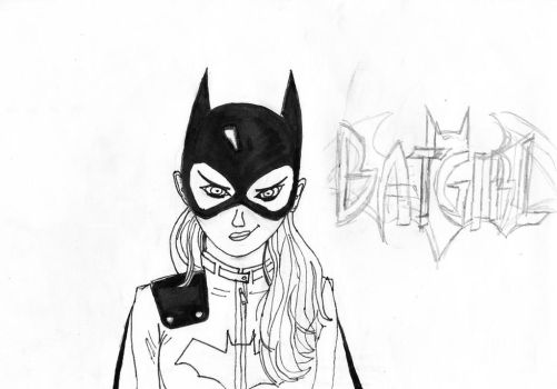 BatGirl New 52 outlined by duffbeerz