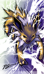 Jolteon's Discharge by JA-punkster