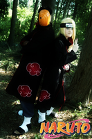 Tobi and Deidara Cosplay by IdenCat
