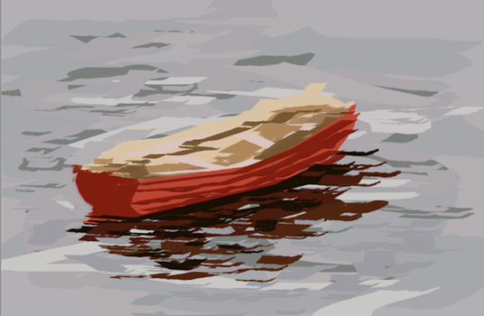 Boat Painting by IzaakShoelaces