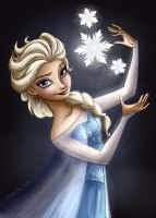 Elsa - COLORING PAGE by FairyMela