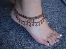 Copper Anklet by SteampunkTigerlily