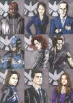 Marvel's Agents of SHIELD Sketch Cards by tedwoodsart
