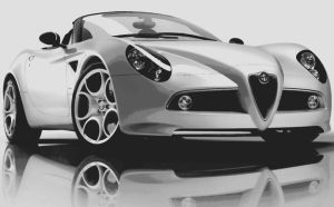 Alfa Romeo 8C Competizione Paint By Number Art kit by numberedart