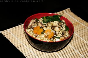 Ramen with Miso and Shiitake by oskila