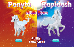 Ponyta and Rapidash Alola Forms