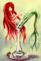 Martini Mermaid by LizzDizz