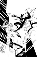 Spider-Man vs Batman Beyond by PhillieCheesie