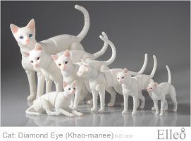 Khao-manee Cat Bjd 04 by leo3dmodels