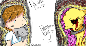 Pewdiepie and fluttershyyy Iscribble. by lilliganto