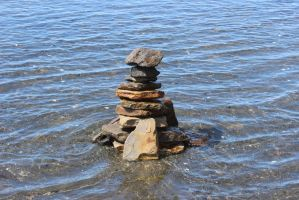 Skipping Stone Statue by ArchaicMosaic