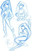 Shego Sketches by savagelucy42