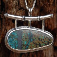 Turquoise and Silver Bamboo by metalsmitten