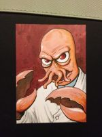 Dr Zoidberg sketch card by MikimusPrime