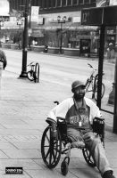 Man in Wheelchair by PhotographybyVictor