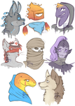 Characters I like 8D by InkyMonster