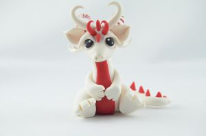 Tiny Candy Cane Dragon by claymeeples