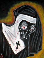 gas mask nun by TattooPunk13