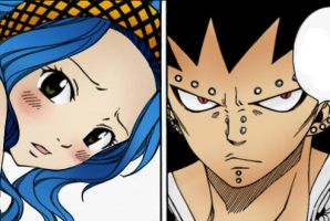Gajeel x Levy Coloring #1 by Zwergiii