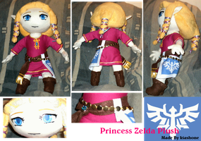 Princess Zelda Plush by kiashone